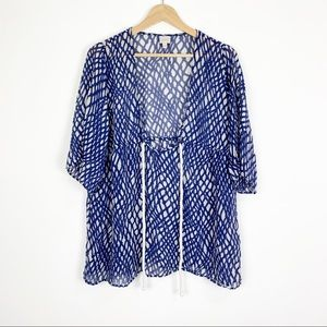 Milly Cabana Silk Swimsuit Coverup Size Medium
